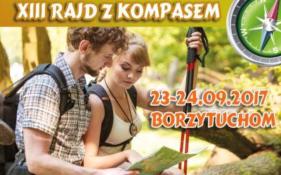 """XIII RAJD NA ORIENTACJĘ """"Z KOMPASEM"""" – BORZYTUCHOM 23-24.09.2017"""
