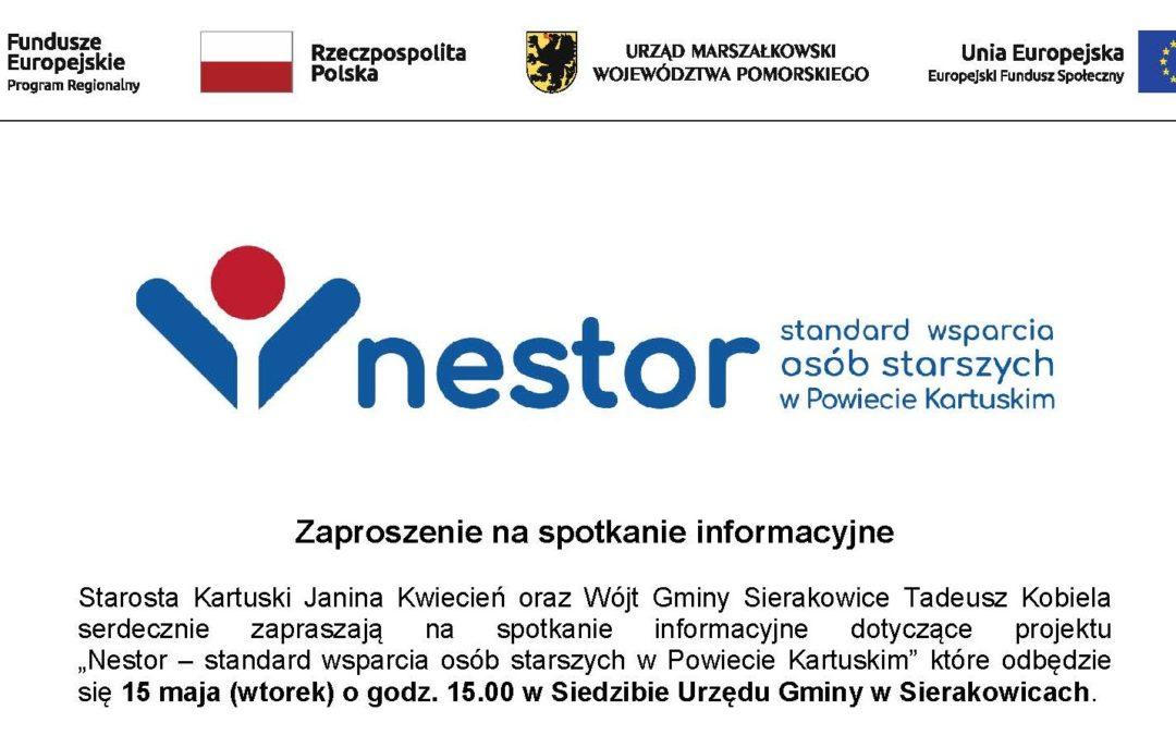 """Spotkanie w sprawie projektu """"NESTOR – standard wsparcia seniorów powiatu kartuskiego"""""""