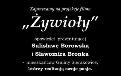"""Projekcja filmu """"Żywioły"""""""