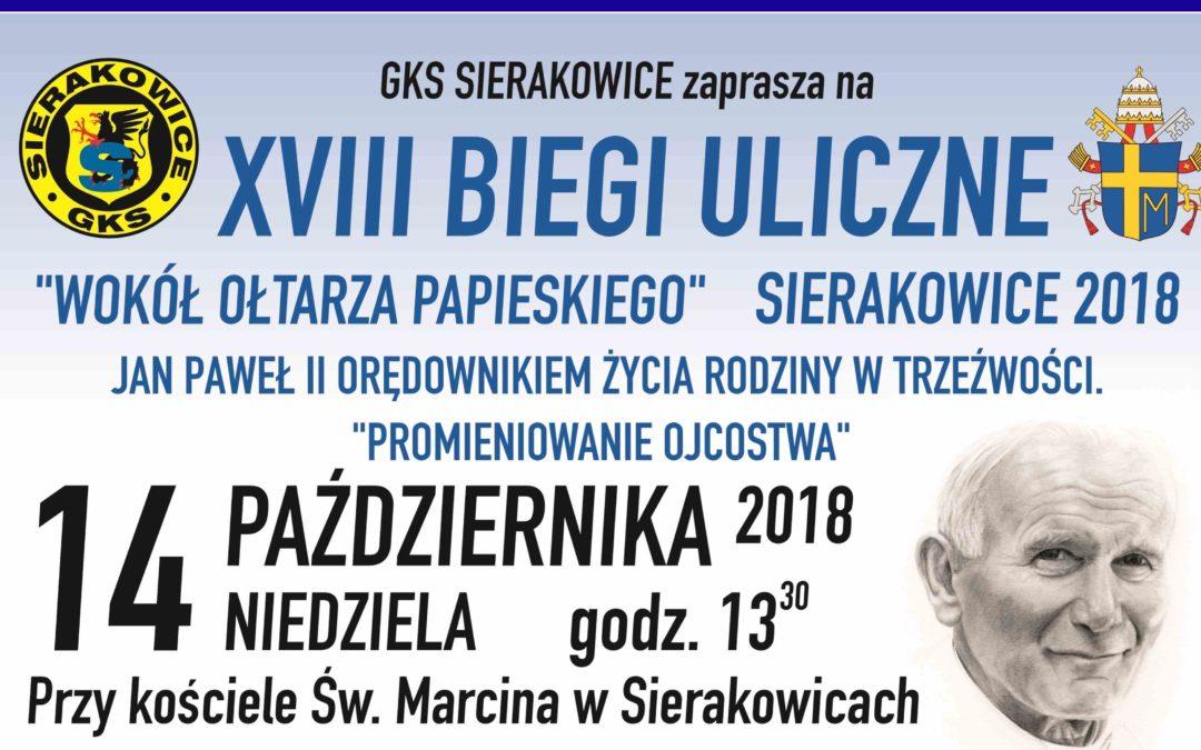 """XVIII Biegi Uliczne""""Wokół Ołtarza Papieskiego"""""""