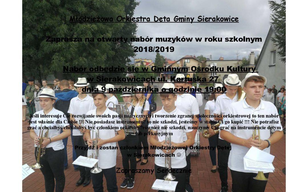 Nabór do Młodzieżowej Orkiestry Dętej.