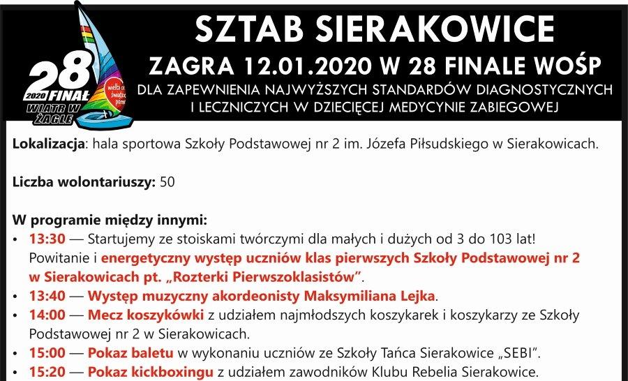Wielka Orkiestra Świątecznej Pomocy zagra również w Sierakowicach!