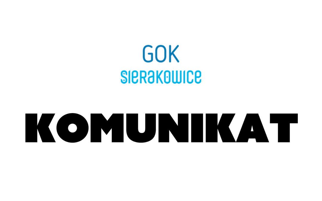 Komunikat – koronawirus.