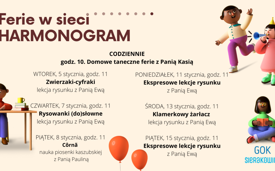 Ferie w sieci z GOK Sierakowice !